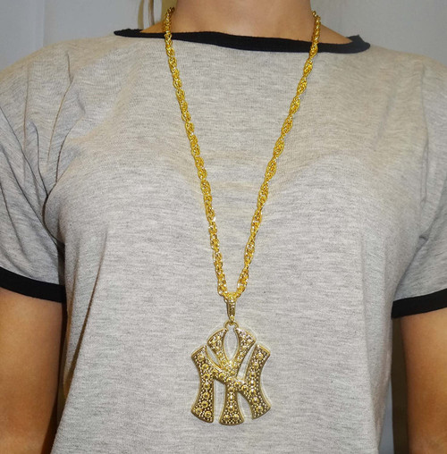 Bling Necklace New York Gold