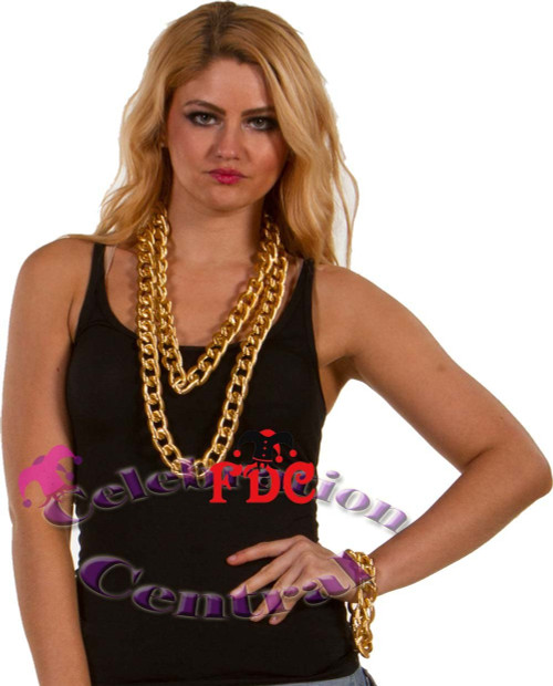Gold Necklace 90cmx22mm