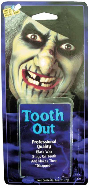 Tooth Out Black Wax Makeup