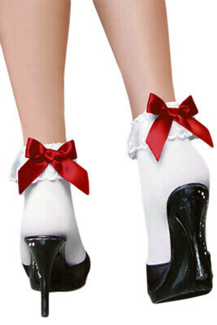 Ankle Socks With Red Bows