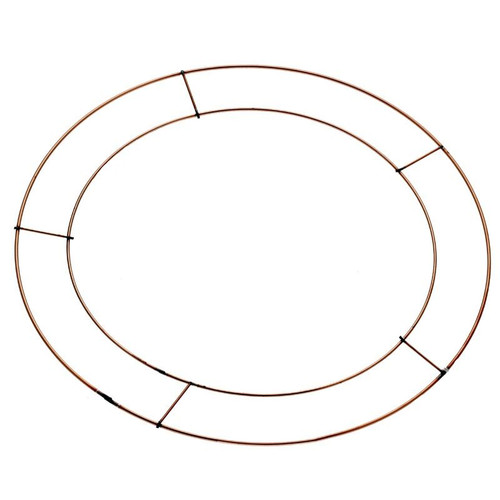Wire Wreath Ring Frame 12in Flat