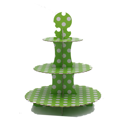 3 Tier Cupcake Stand Green