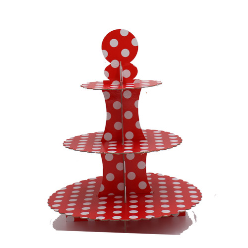 3 Tier Cupcake Stand Red