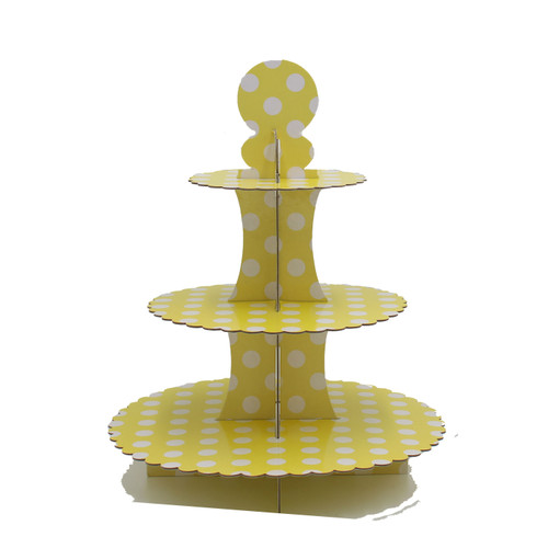 3 Tier Cupcake Stand Yellow
