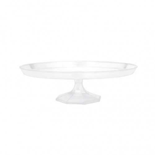 Clear Plastic Cake Stand 9.75cm