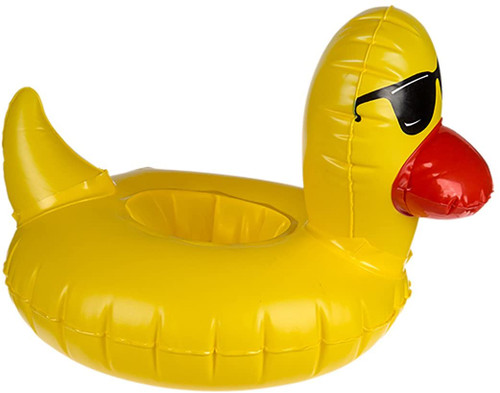 Inflatable Duck Drinking Can Holder