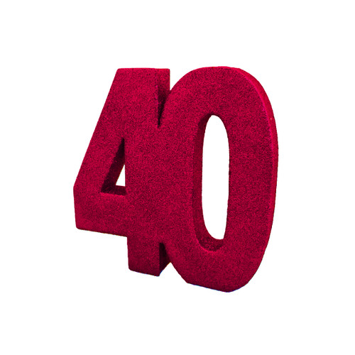 Table Number 40 Red