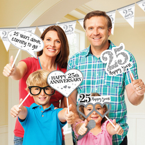 25th Silver Anniversary Photo Prop Kit 25 Happy Years