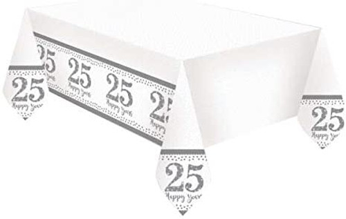 25th Silver Anniversary Tablecover 25 Happy Years