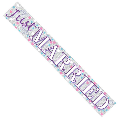 Banner Just Married 2.6m