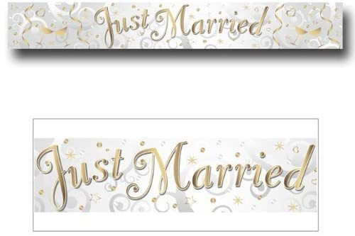 Banner Just Married 2.7m