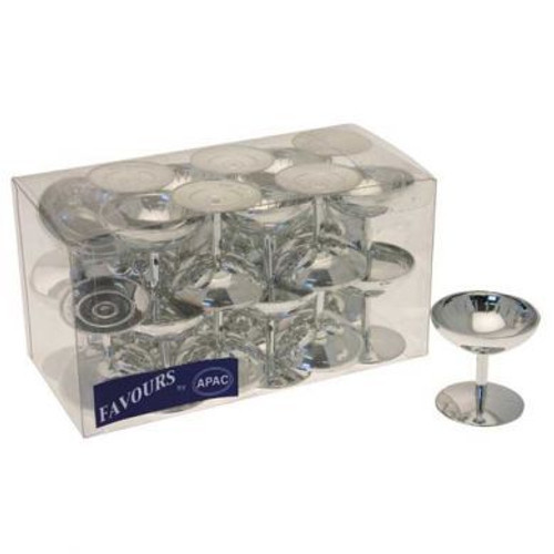 Champagne Favor Cups Pk24 Silver