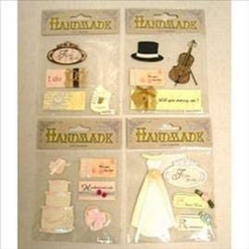 Craft Top Hat Stick on Pack Assorted