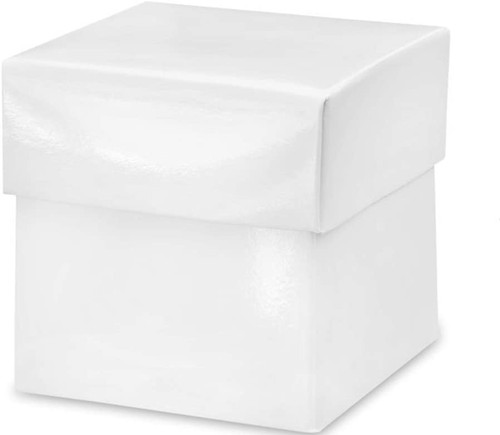 Favor Box Glossy White Box with Lid
