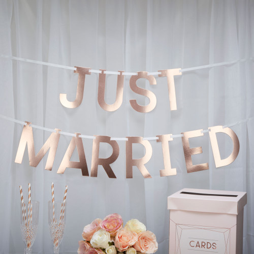 Geo Blush Just Married Bunting