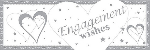 Engagement Wishes Giant Banner