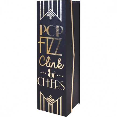 Black and Gold Bottle Box