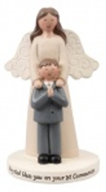 Communion Guardian Angel With Boy Statue