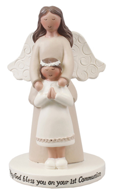 Communion Guardian Angel With Girl Statue
