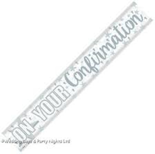Silver Confirmation Banner 2.7m