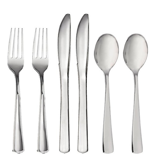 Assorted Cutlery Stainless Silver Pk32