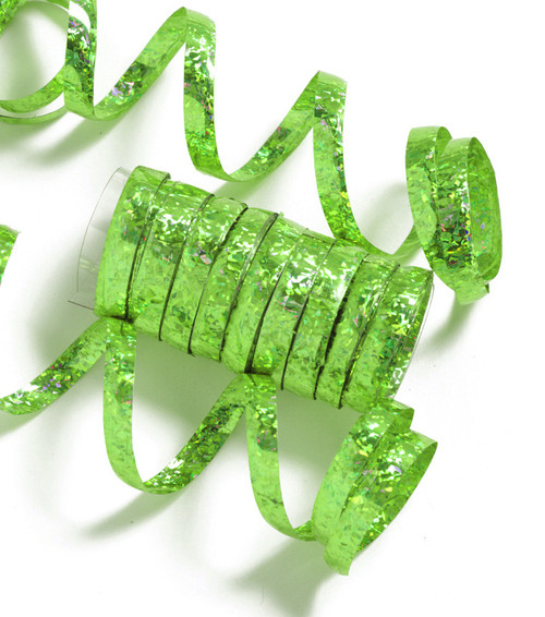 Serpentine Streamers Holographic Green