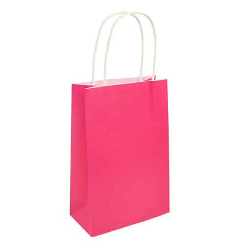 Paper Bag Hot Pink With Handles