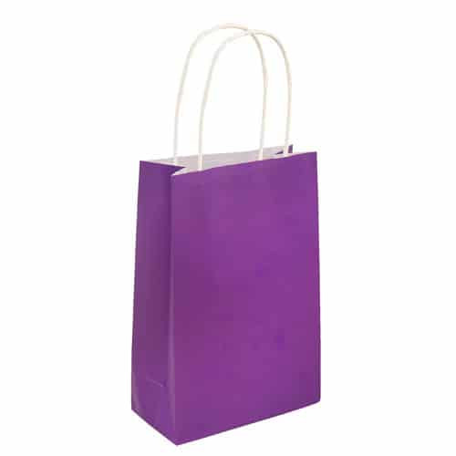 Paper Bag Purple with Handles