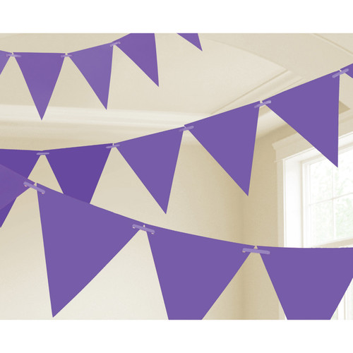 Pennant Banner Paper New Purple 15ft