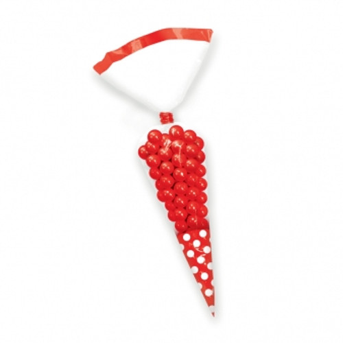 Cone Shaped Bags Red Pack 10