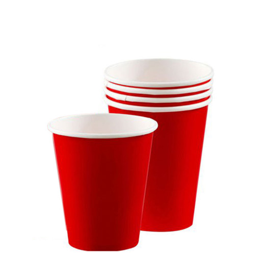 Paper Cups Pk8 266ml Red
