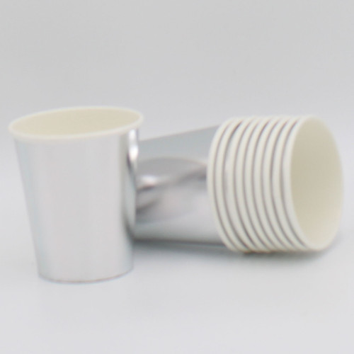 Paper cup Pk10 Silver