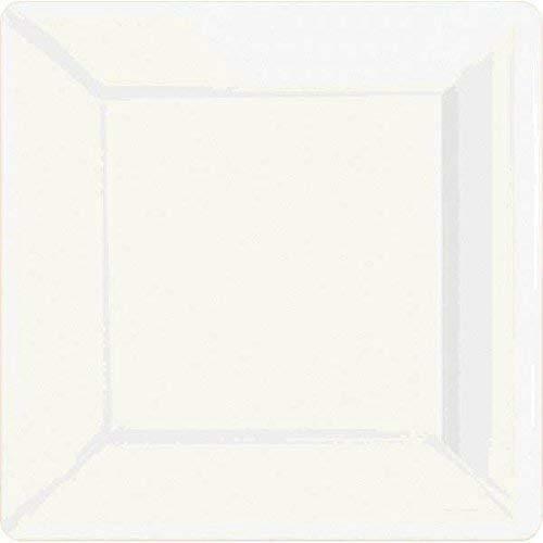 10in Square Paper Plate Frosty White