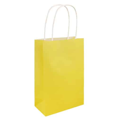 Paper Bag Yellow with Handles