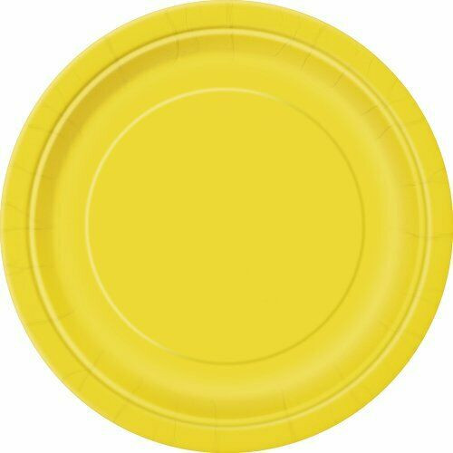 Paper Plates Pk8 9in Sunflower Yellow