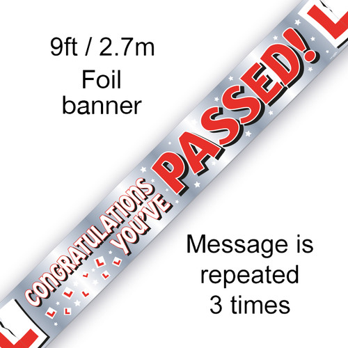 Congratulations Youve Passed Banner 9ft