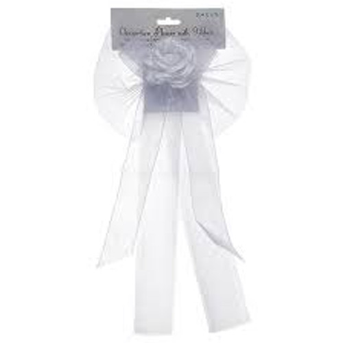 Decoration Flower with White Ribbon