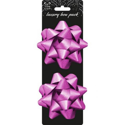 Star Bow 4in Pk2 Pink