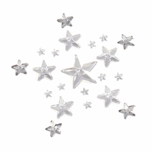 Bling Stars Clear Assorted