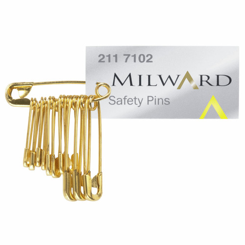 Safety Pins Pack12 Gold