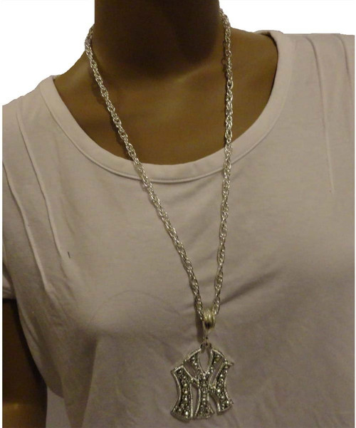 Bling Necklace Silver New York
