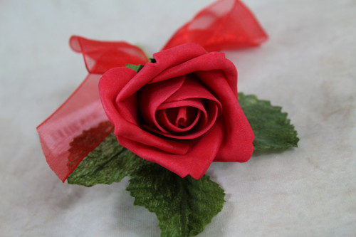 Corsage Rose Red Single