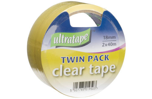 Clear Tape 18mm Twin Pack