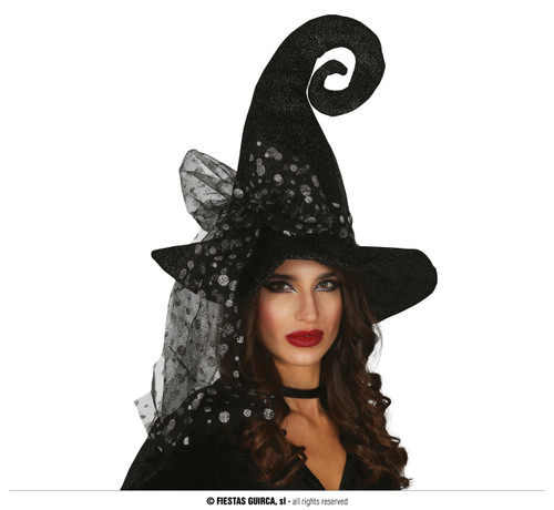 GREY WITCH HAT WITH MOLES