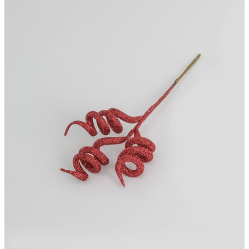 28cm Glitter Twisted Pick Red