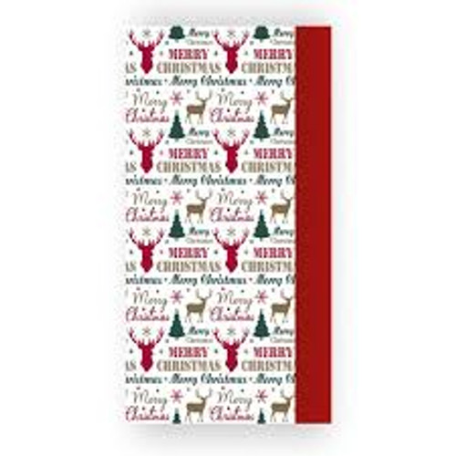 Tissue Paper  Red and Stag Pk8
