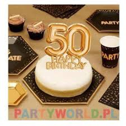 Glitz and Glamour Gold Cake Topper Age 30