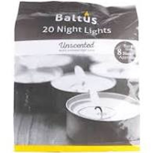 20 Unscented Night Light Candles