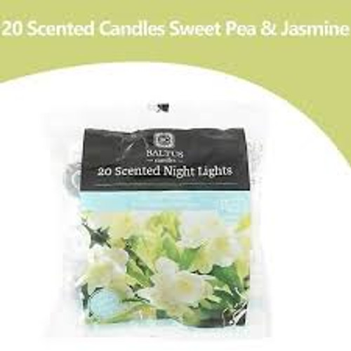 20 Scented Night Light Candles Sweetpea And Jasmine