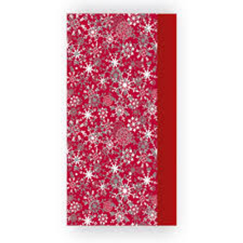 Tissue Paper Red with Silver Snowflakes Pk8